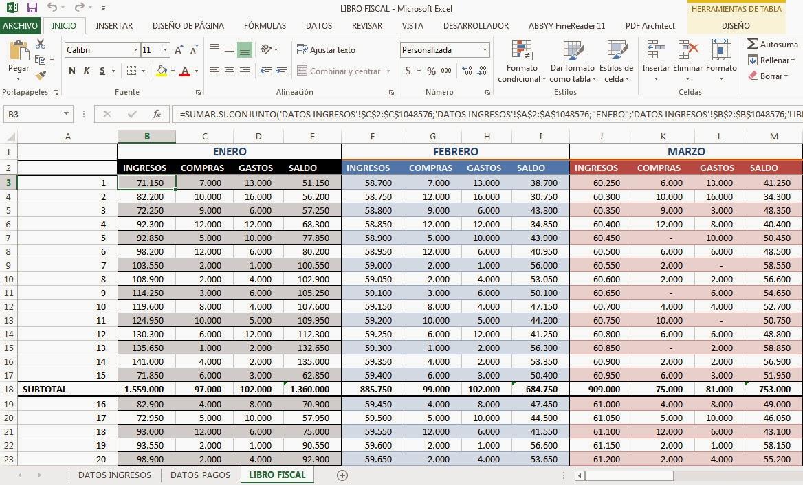 Libro Fiscal en Excel - Sumar.Si.Conjunto | Macros para Contadores