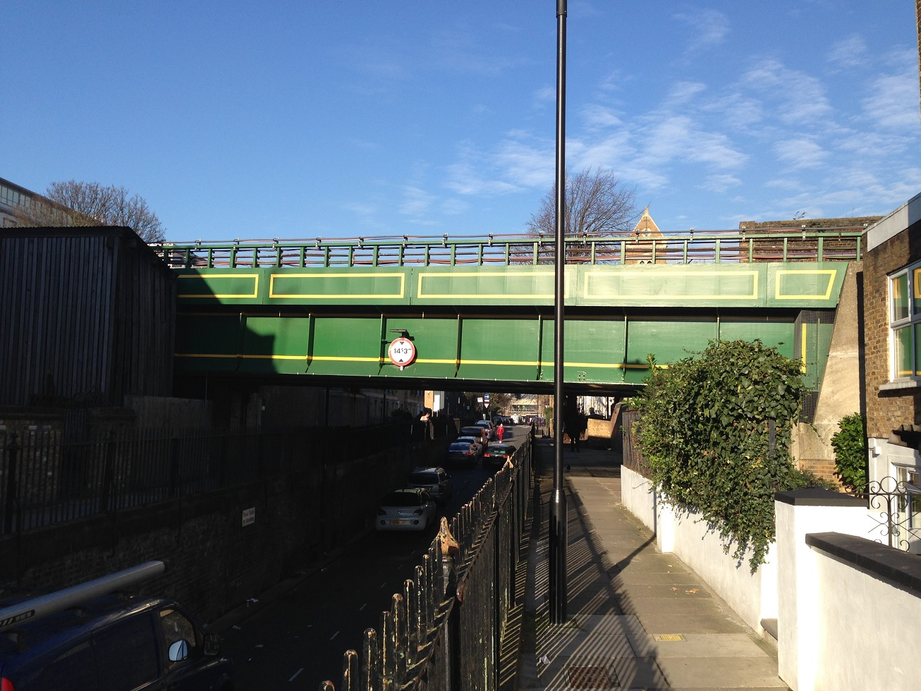 London Underground railway bridge, near Ravenscourt Park, London W6