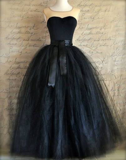 black tulle skirt for wedding