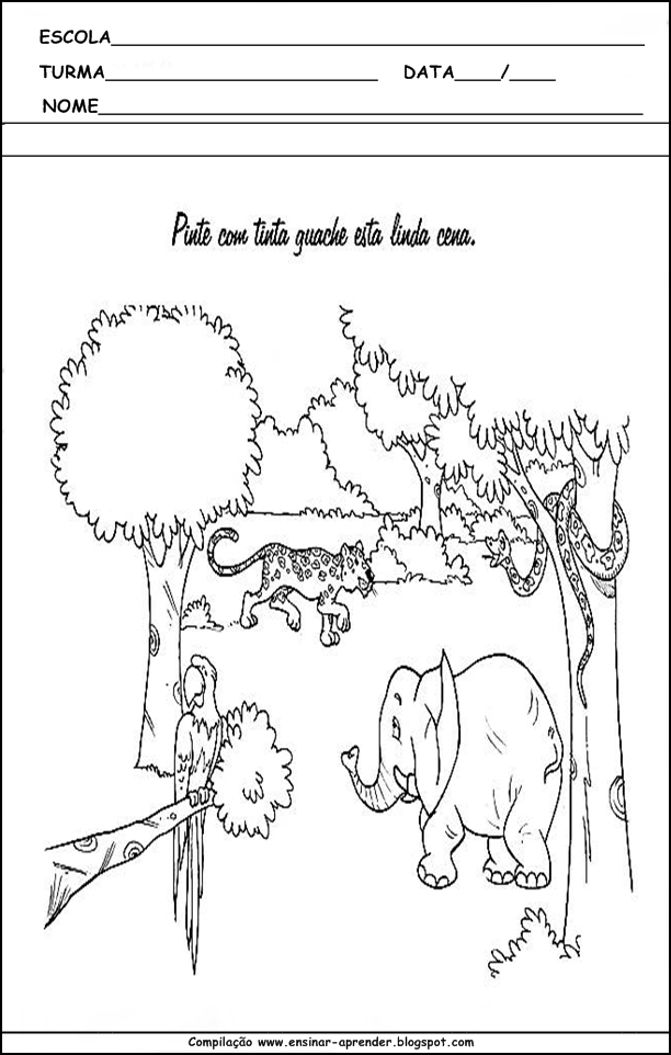 Famosos MEIO AMBIENTE ATIVIDADES PARA EDUCAÇÃO INFANTIL | Cantinho do  IP08