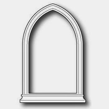 Poppystamps Die Gothic Window Small die