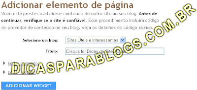 colocar widget de comentrios no blogger