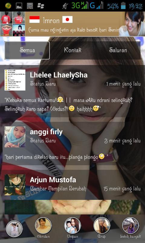 Umpan atau tempat status BBM Android JKT48