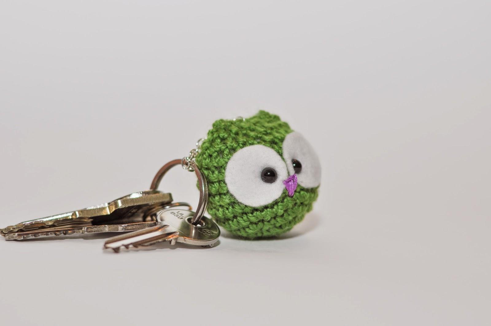 Kvačkana sovica, obesek za ključe