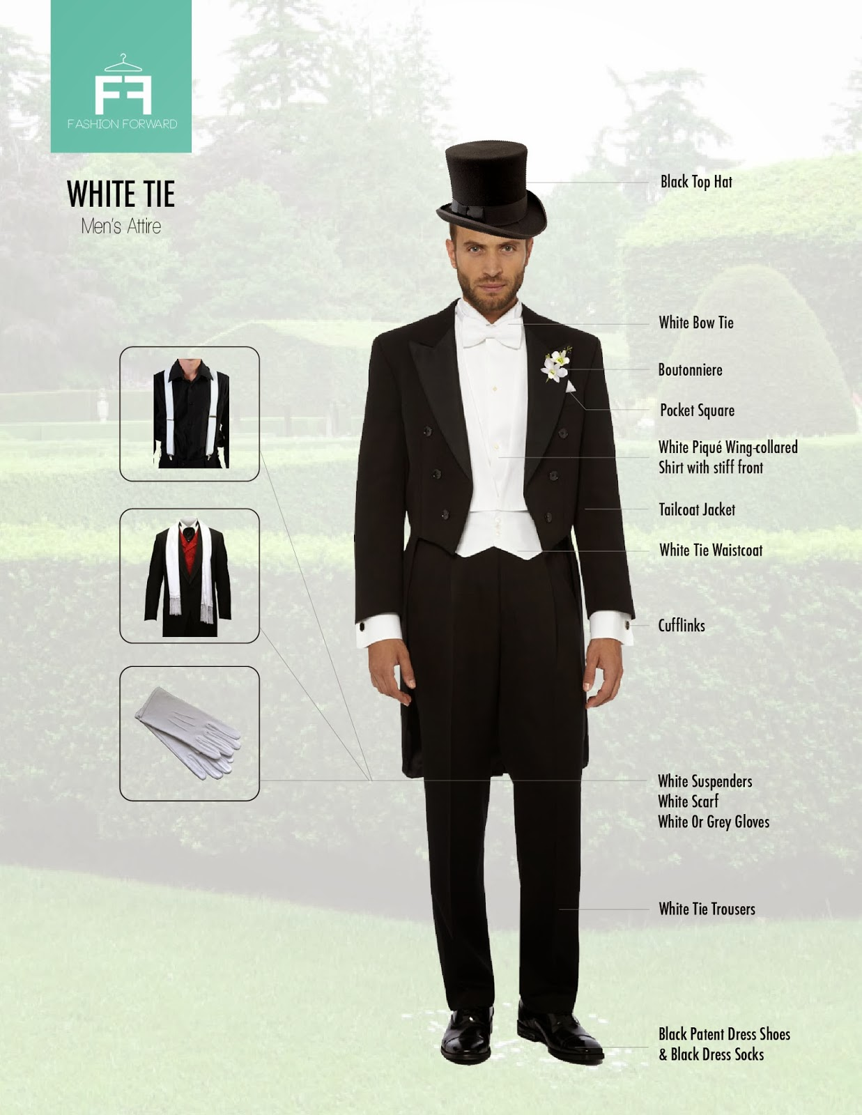 Perfect Formal White Tie Dress Code | Bows-N-Ties.com