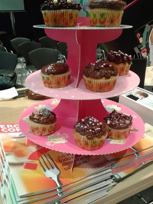 Imagen de cupcakes hechas por los asistentes al Taller