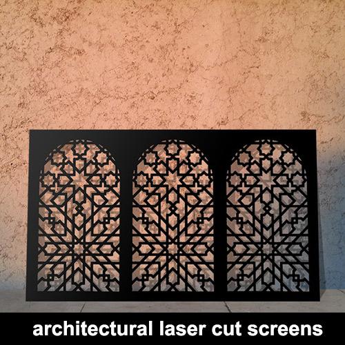 Architectural laser cut panels
