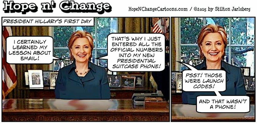obama, obama jokes, political, humor, cartoon, conservative, hope n' change, hope and change, stilton jarlsberg, hillary, email, scandal