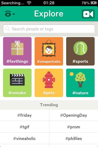 Vine app trending hashtags