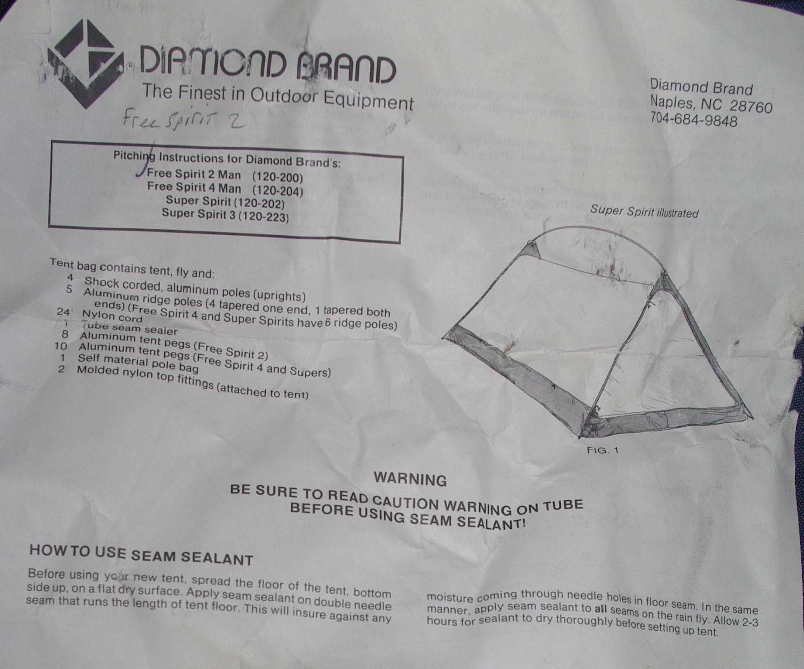 Teds Blog Free Spirit 2 Tent Instruction Sheet