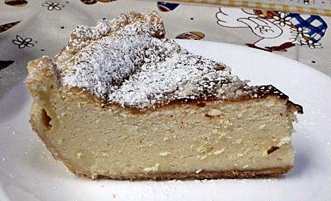 Corte tarta de petit suisse