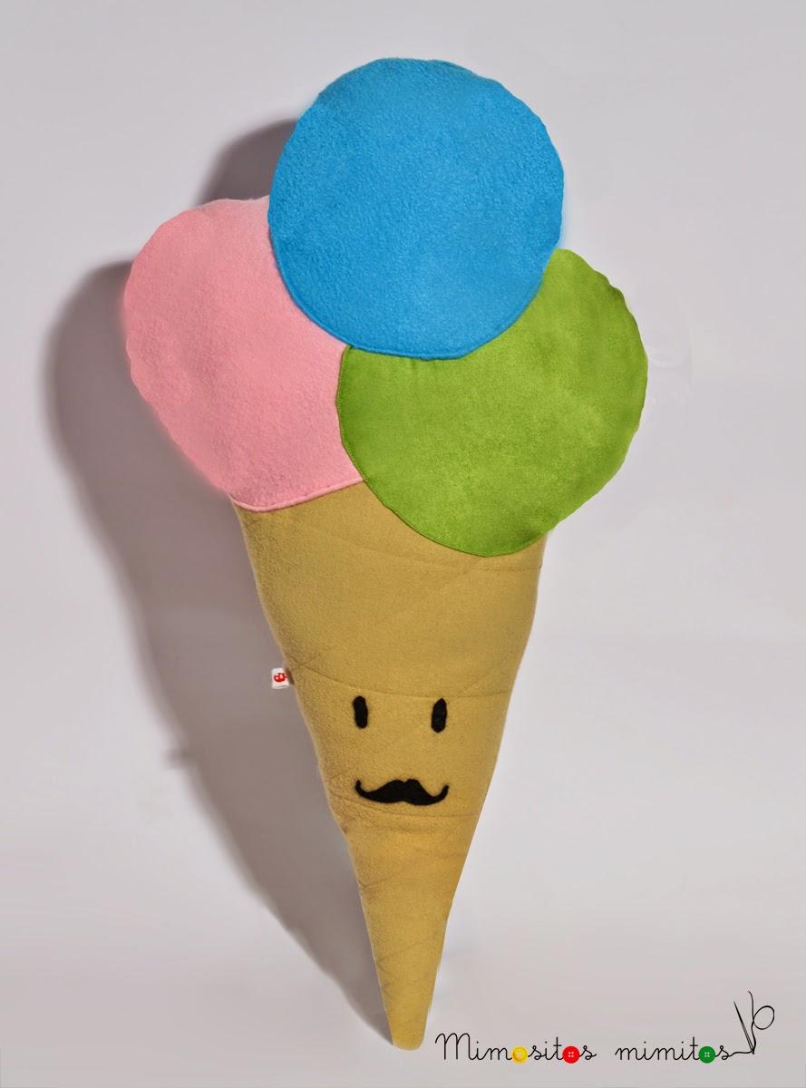 helado polo verano muñeco hecho a mano peluche summer cucurucho