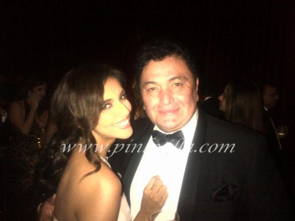 Asin  in a gorgeous chiffon off shoulder dress with rishi kapoor - Asin ~~~ here and there