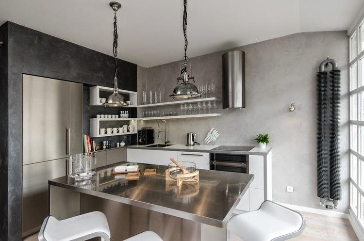 Un loft in grigio