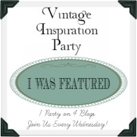 I was feautured on the Vintage Inspiration Party!