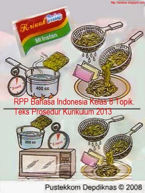 Rpp Bahasa Indonesia Kelas 8 Topik Teks Prosedur Kurikulum 2013 Berbagi Kurikulum 2013