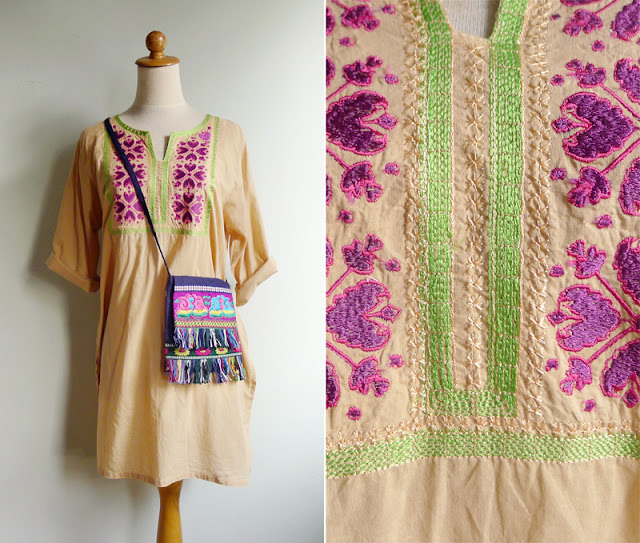 vintage hippie caftan dress