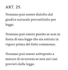 Art 25 Cost.