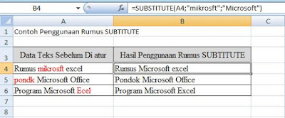 contoh data rumus substitute
