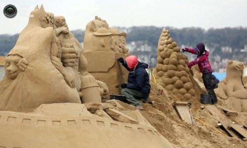 Festival Patung Pasir Di Inggris