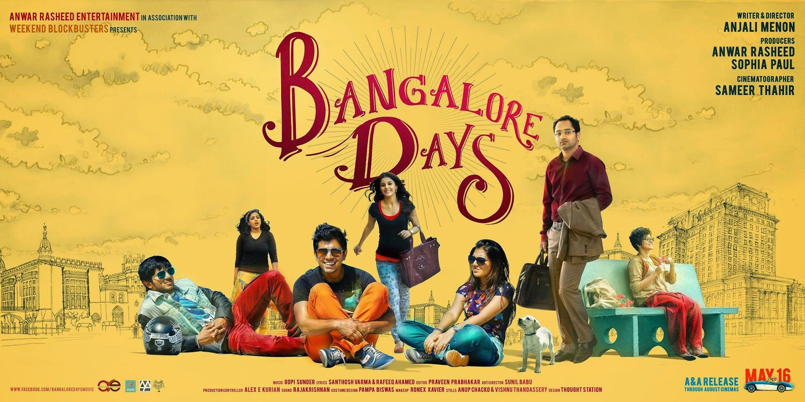 movie review of bangalore days in movieparadiso