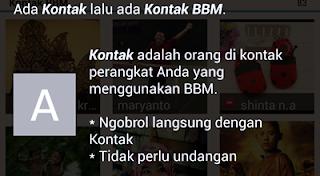 Fitur Terbaru kontak terkait Pada BBM Blackberry Messenger Versi Android