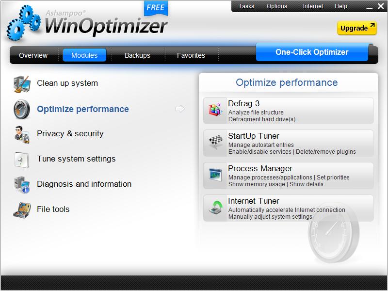 برنامج مجاني لتسريع وتنظيف وتحسين أداء جهازك Ashampoo WinOptimizer Free 1.0