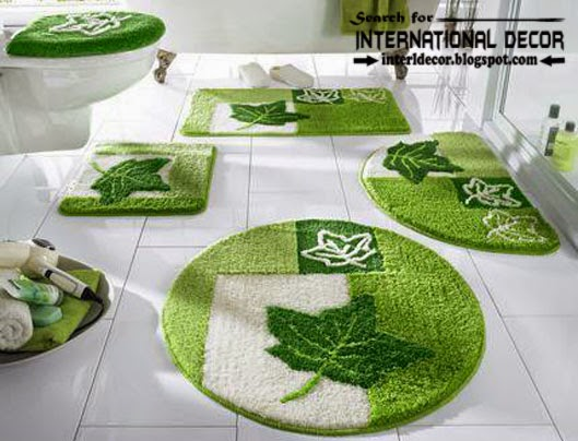 Italian bathroom rug sets, green bathroom rug sets, bathroom rug sets 5 pieces