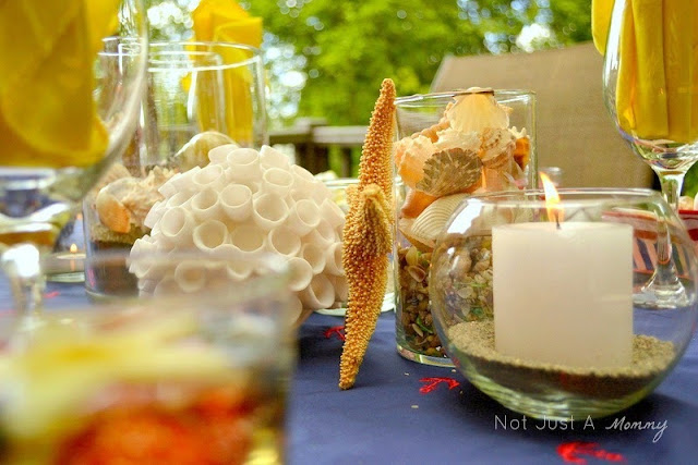 Starfish And Stripes: Nautical 4th Of July Tablescape nautical centerpieces