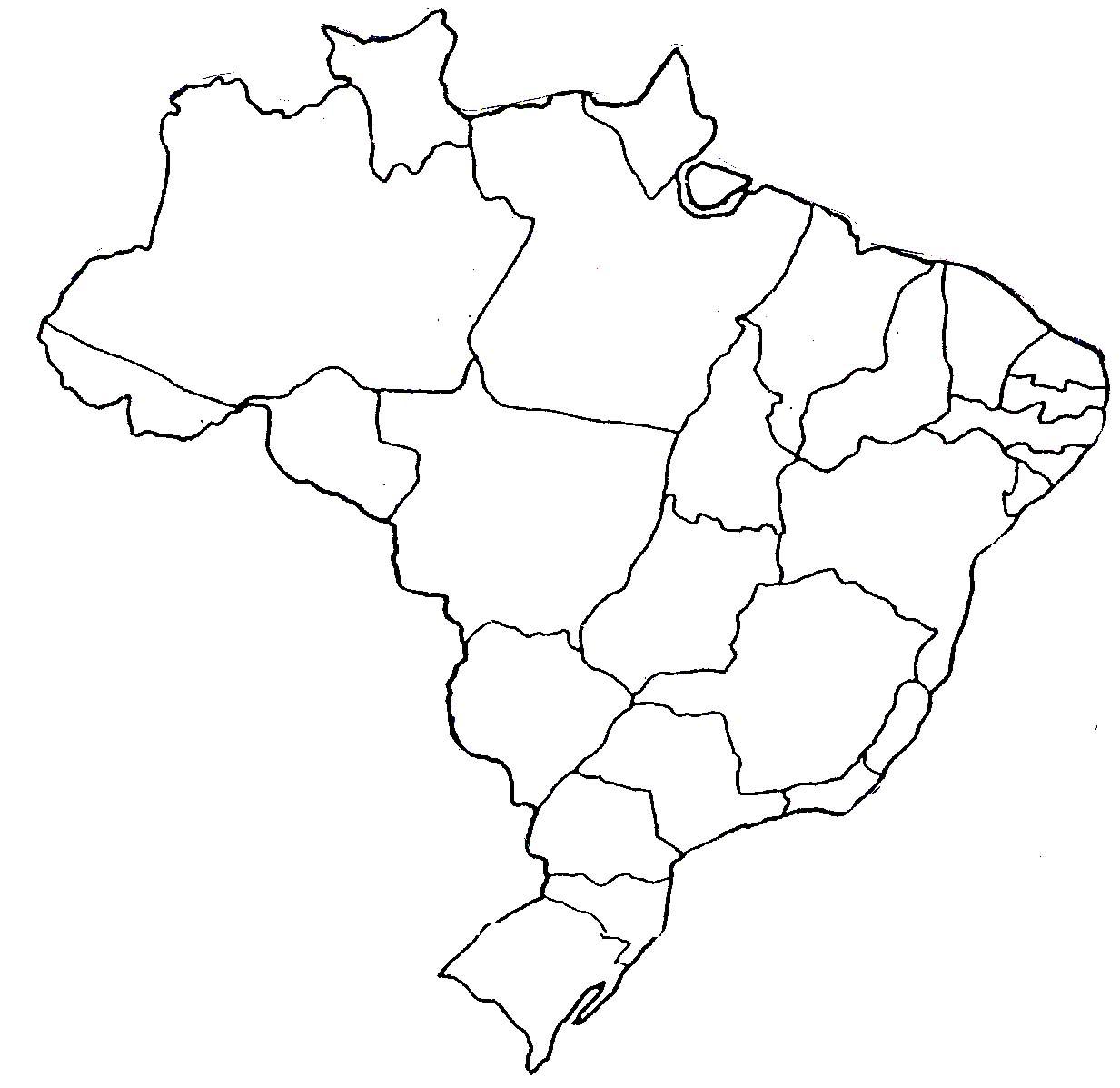 Educar X Mapas Poltico do Brasil para pintar e colorir