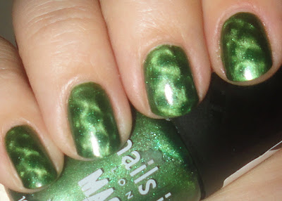 nails inc. spitafields with fishnet manget nail polsih swatch