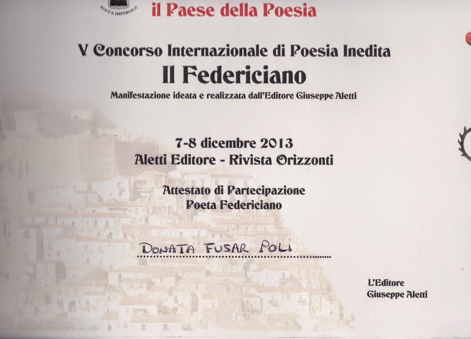 """V Concorso Internazionale """"Il Federiciano"""" 2013"""