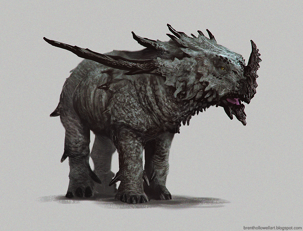 Creature And Character Design Book : Brent s sketch rhino type dude