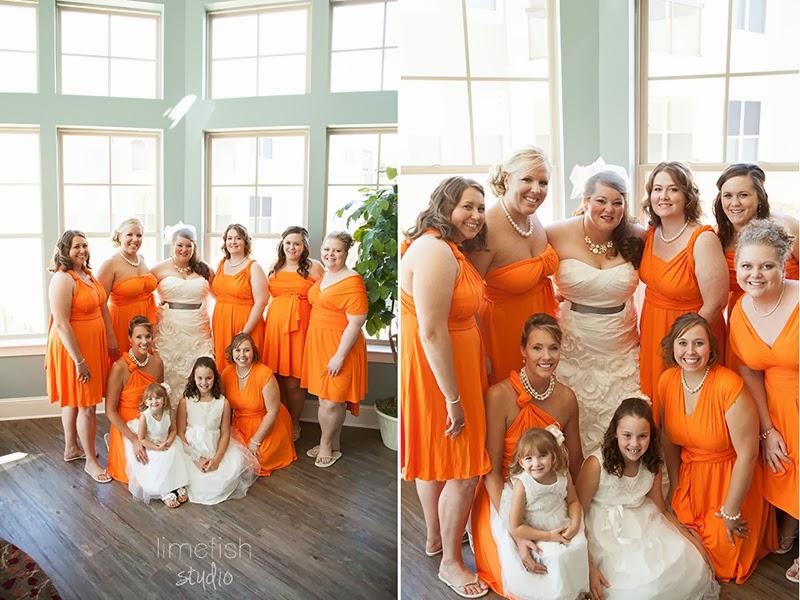 Jenn Ryan Orange Green Staunton Virginia Wedding Limefish