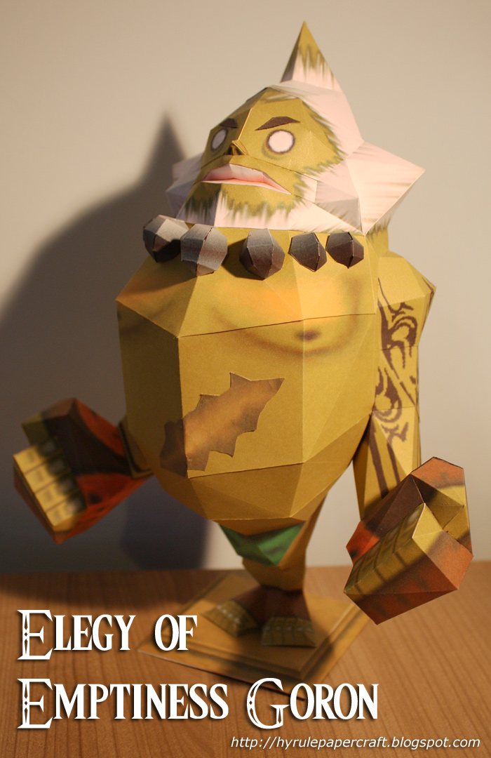 Elegy of Emptiness Goron Paper Model