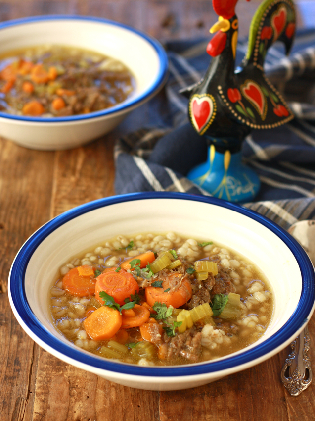 Asian-style Beef Barley Soup recipe by SeasonWithSpice.com