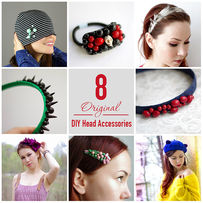 DIY 8 Original DIY Head Accessories via www.fashionrolla.com