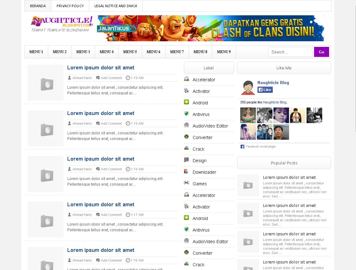 Template BAGAS31.com untuk Blogger
