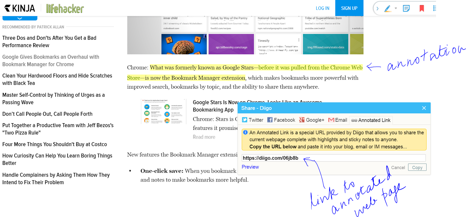 Diigo Lets You Annotate A Web Page And Share A Link To It That Preserves  The Annotations