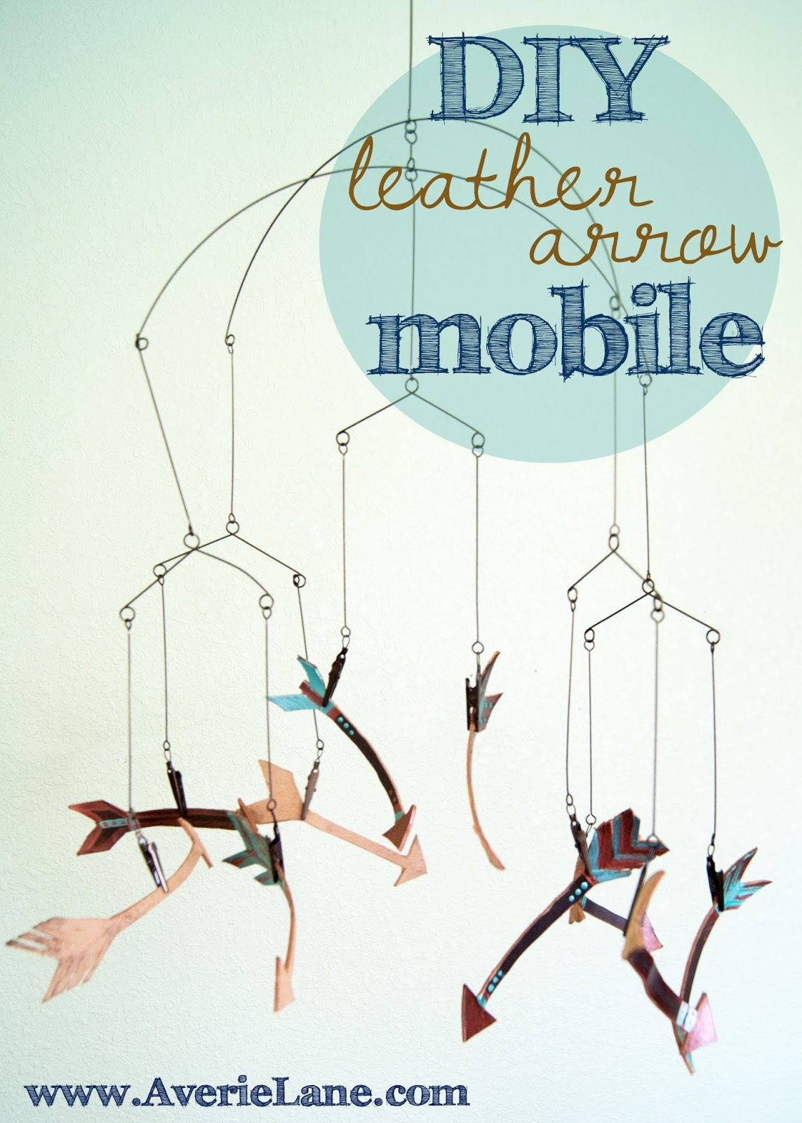 DIY Leather Arrow Mobile for baby