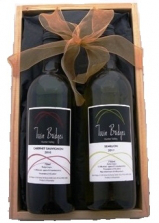Twin Bridges wine gift box