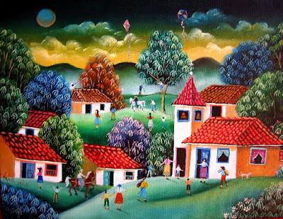 Pintor Paisajes Naif Colombia