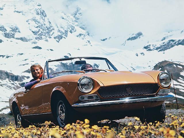Fiat 124 Spider, in montagna