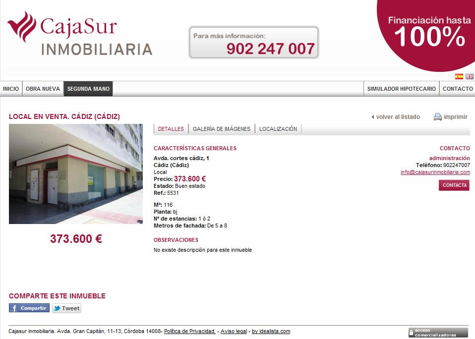 Cajasur promociona locales de las oficinas que ha cerrado for Oficinas caja sur