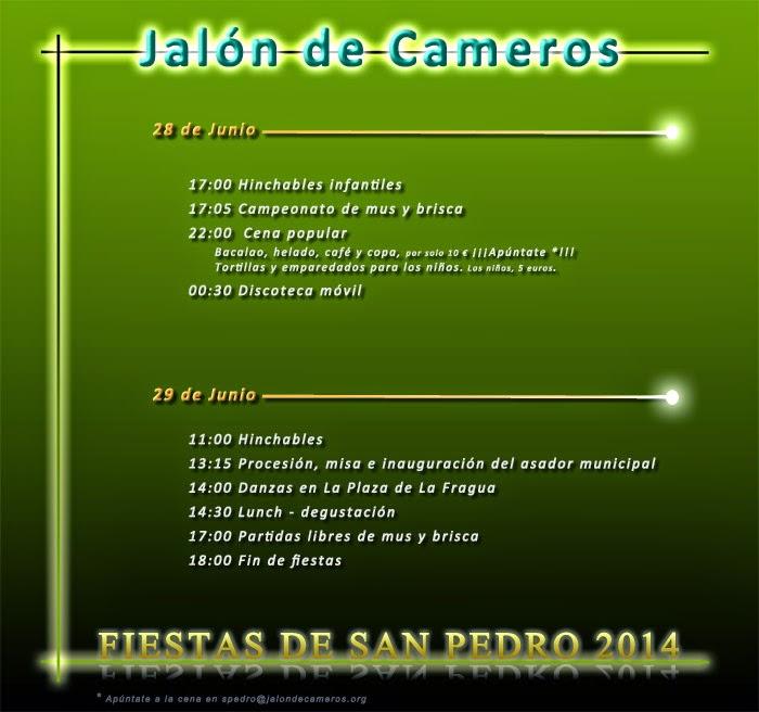 Jalón de Cameros. Programa de Fiestas de San Pedro 2014.
