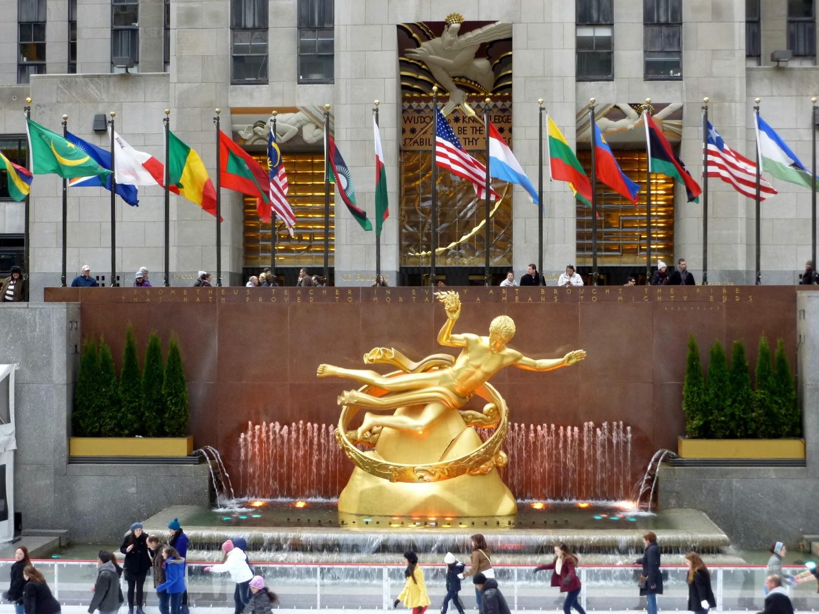 Photo Ops Art Deco Fountain Prometheus Fountain New York Ny