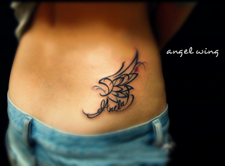 angel wing tattoo for girls on 2014 new tattoos. Black Bedroom Furniture Sets. Home Design Ideas
