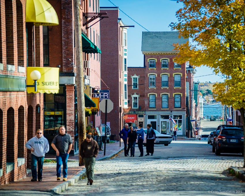 Portland, Maine November 2015 photo by Corey Templeton. The old view down silver street towards Fore Street and the waterfront.