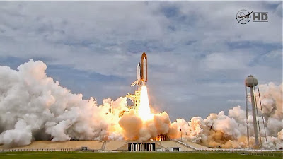 moment  shuttle launch from 1986