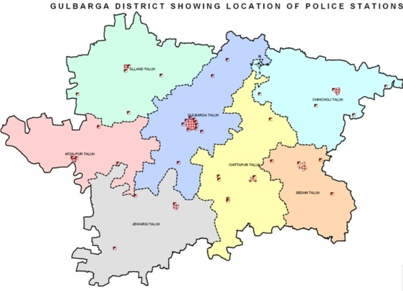 GULBARGA DISTRICT MAP
